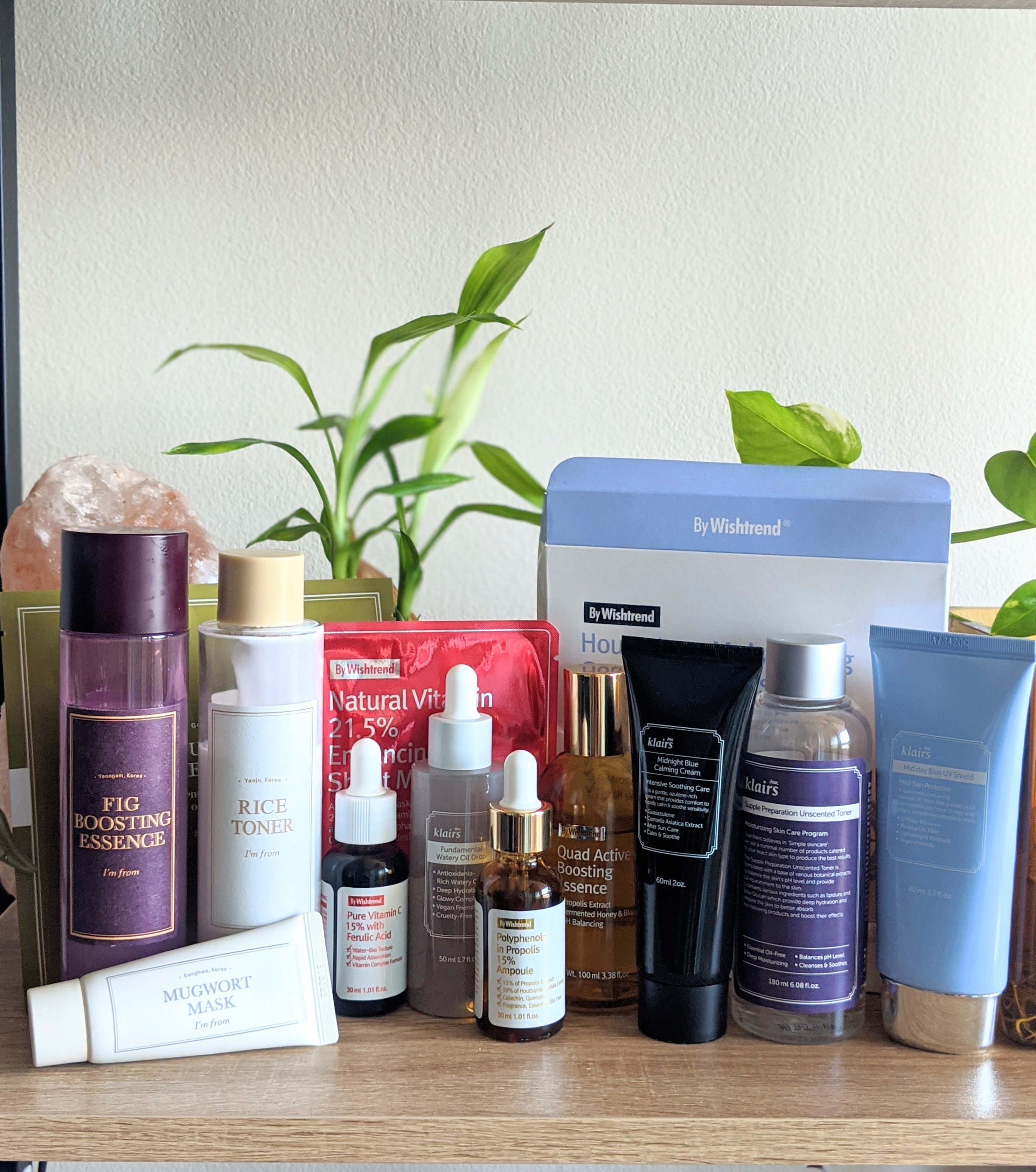 A collection of Korean Skincare offered by Wishtrend, an online retailer.
